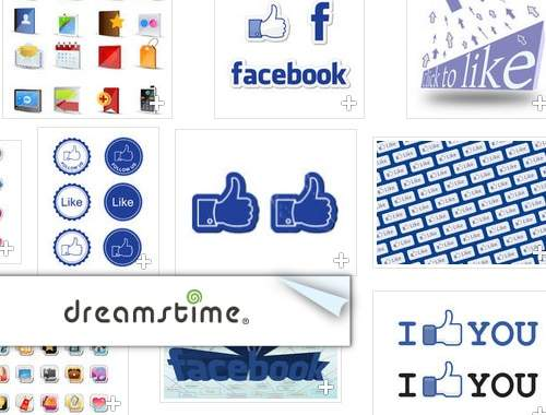 dreamstime facebook vector logo