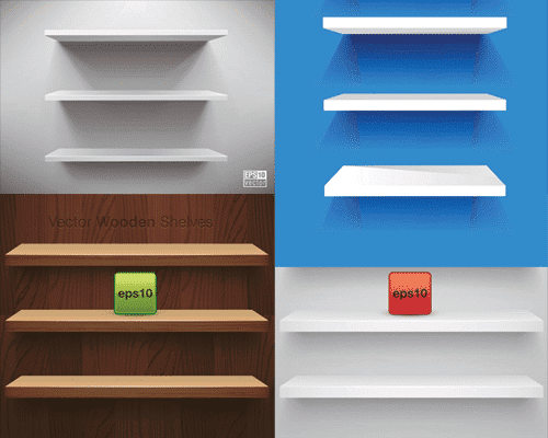Empty shelf background