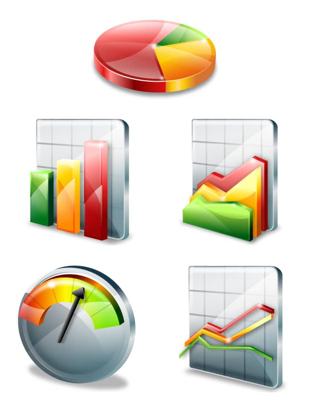 Free Vector Chart Icons