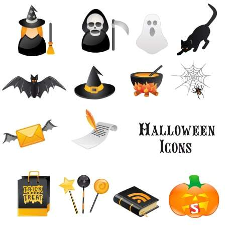 Halloween Vector Icon Set