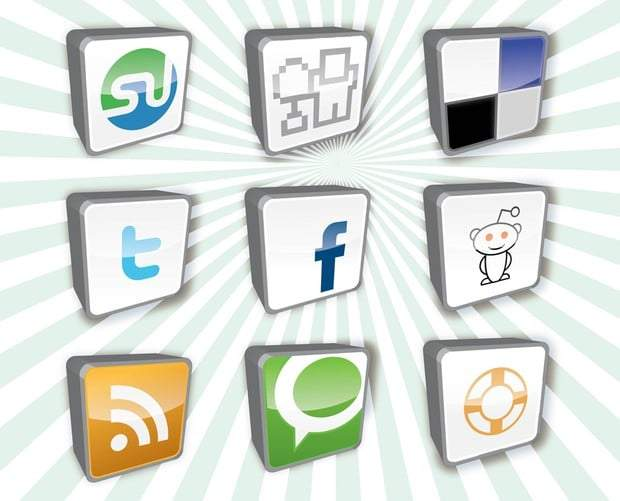 Social Media Bookmark Icons