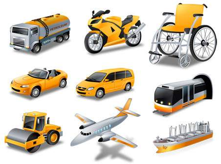 Transport Icons Vector Free Download Transport Vector Icons