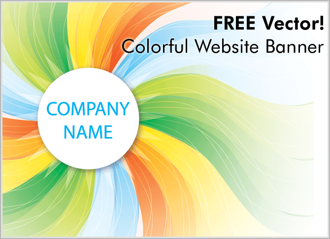 free-vector Colorful Website Banner