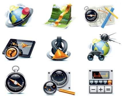travelers theme icon vector