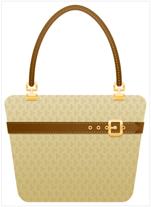 Create a cute purse icon