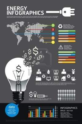 Illustration - energy infographic vector