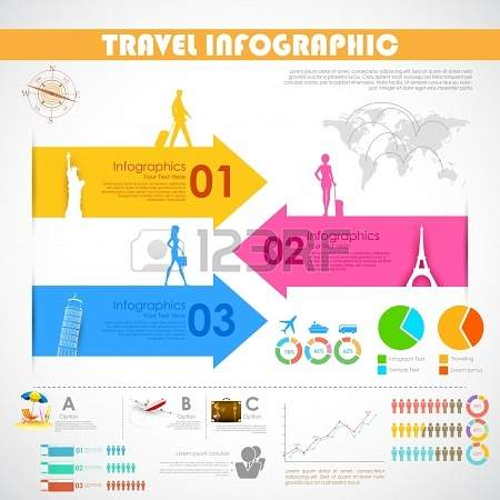 illustration of Travel Infographic Chart