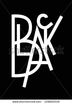 original modern hand lettering composition BLACK