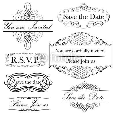 Invitation Set in Calligraphy