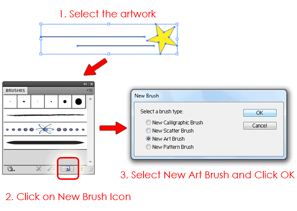 Create a new Art Brush