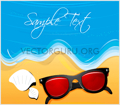 Beach, Seashore Holiday Background