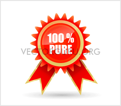 100% Pure Badge