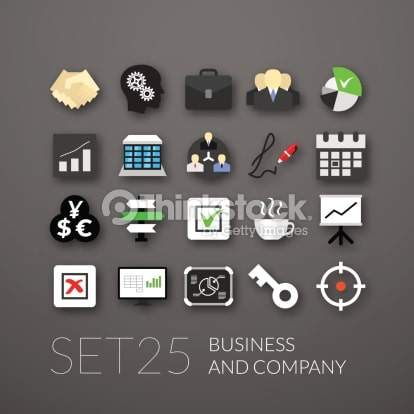 Set of 25 Business and Company Icons