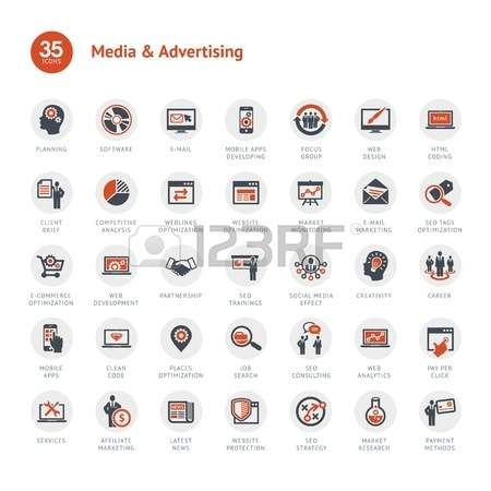 Vector - Media and Advertising icons