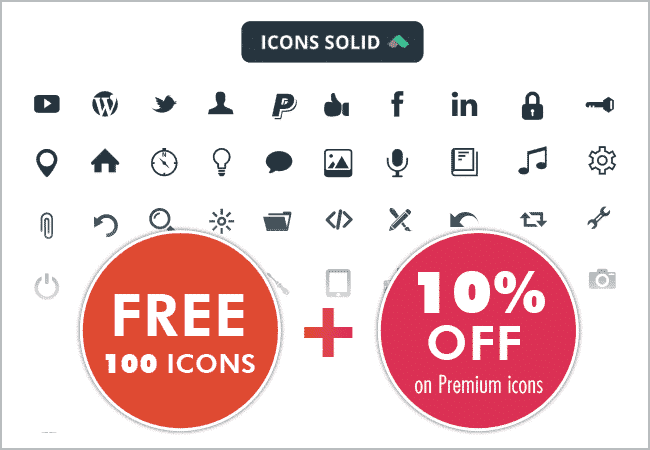 Free 100 icons and 10% rebate code