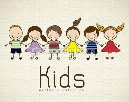 Kids icons - Stock Illustration