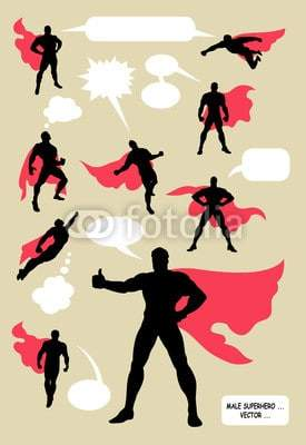 Male Superhero Silhouettes