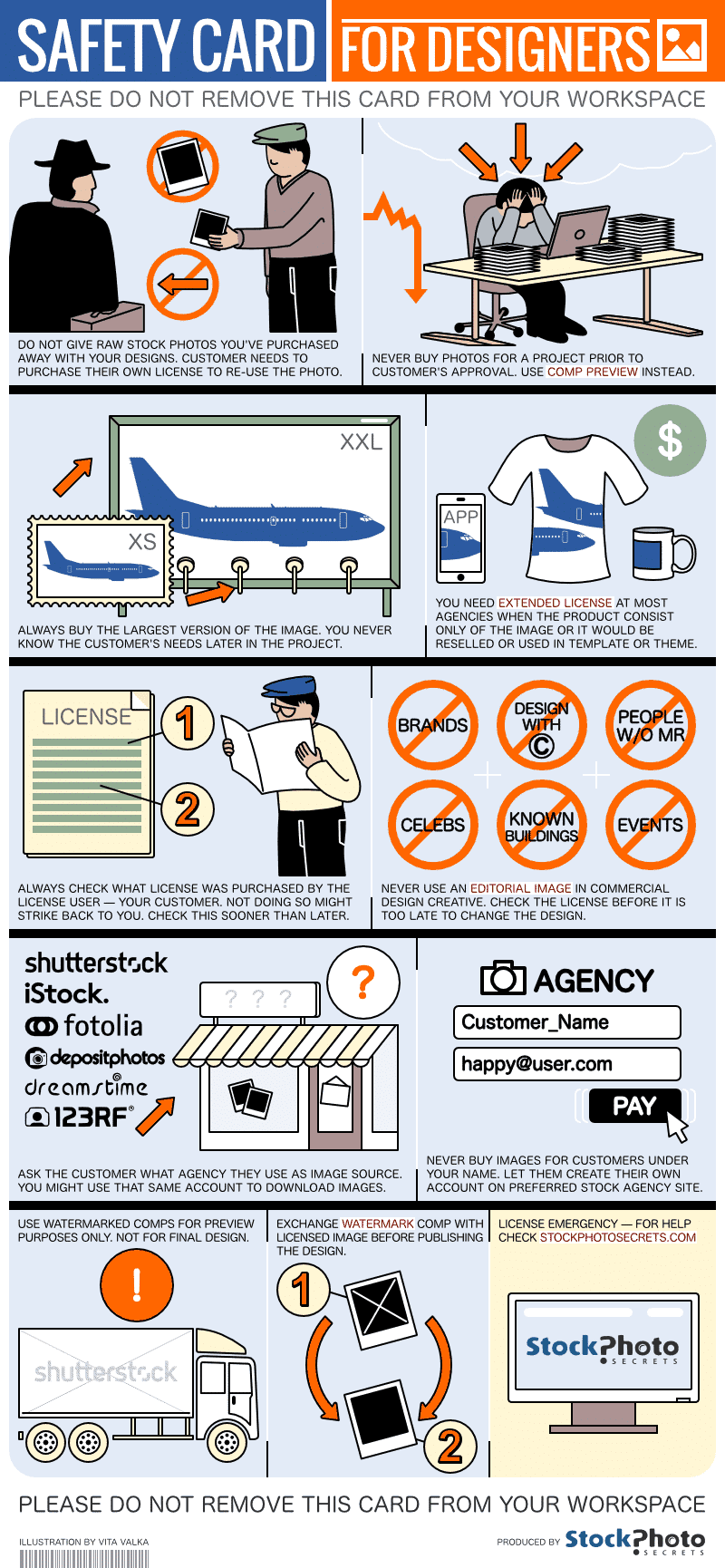 stock photo safety card infographic