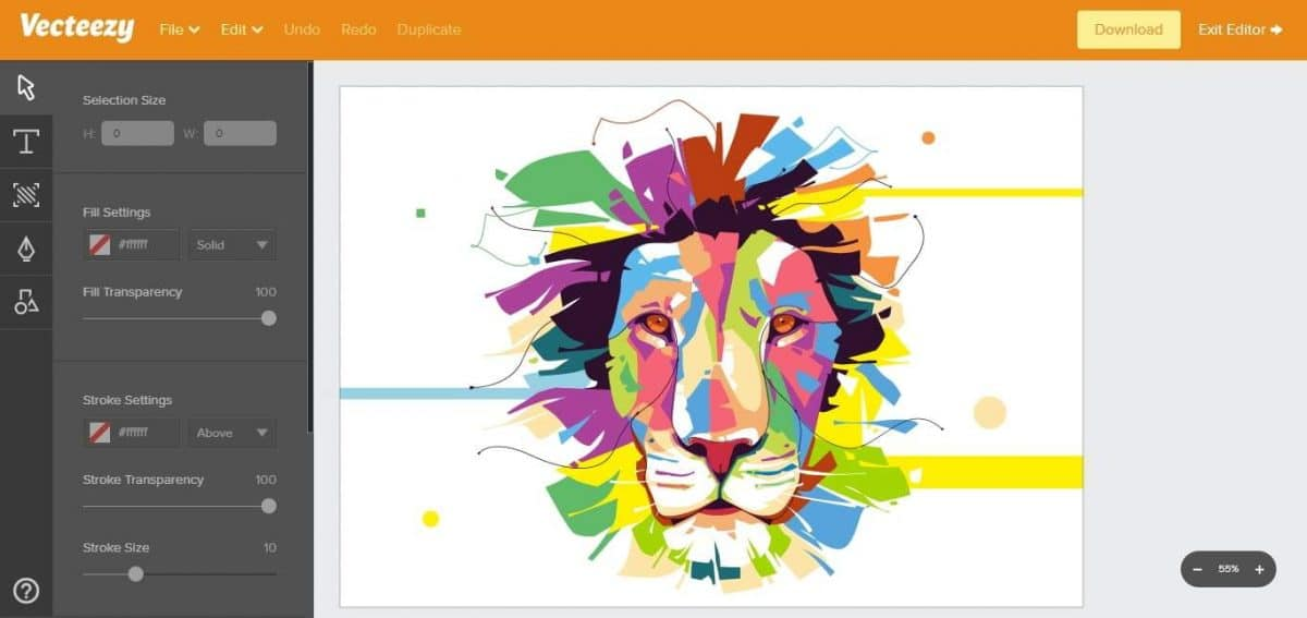 Svg edit online vector graphics editor vecteezy vector Open source svg editor