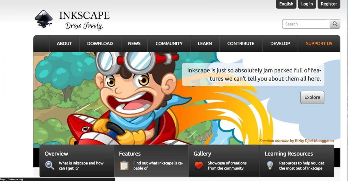 Inkscape screenshot website