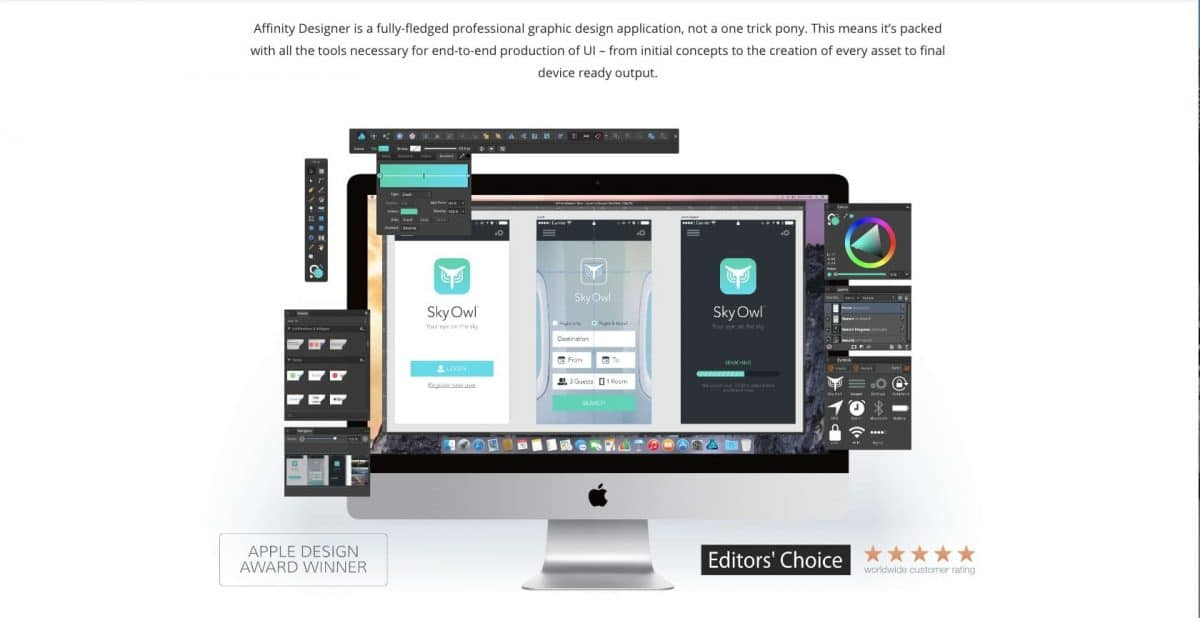 Affinity Designer website screenshot
