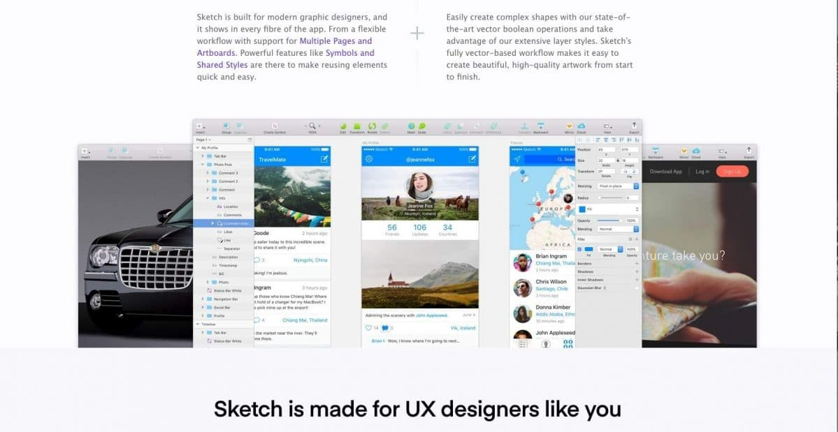 Sketch website screenshot