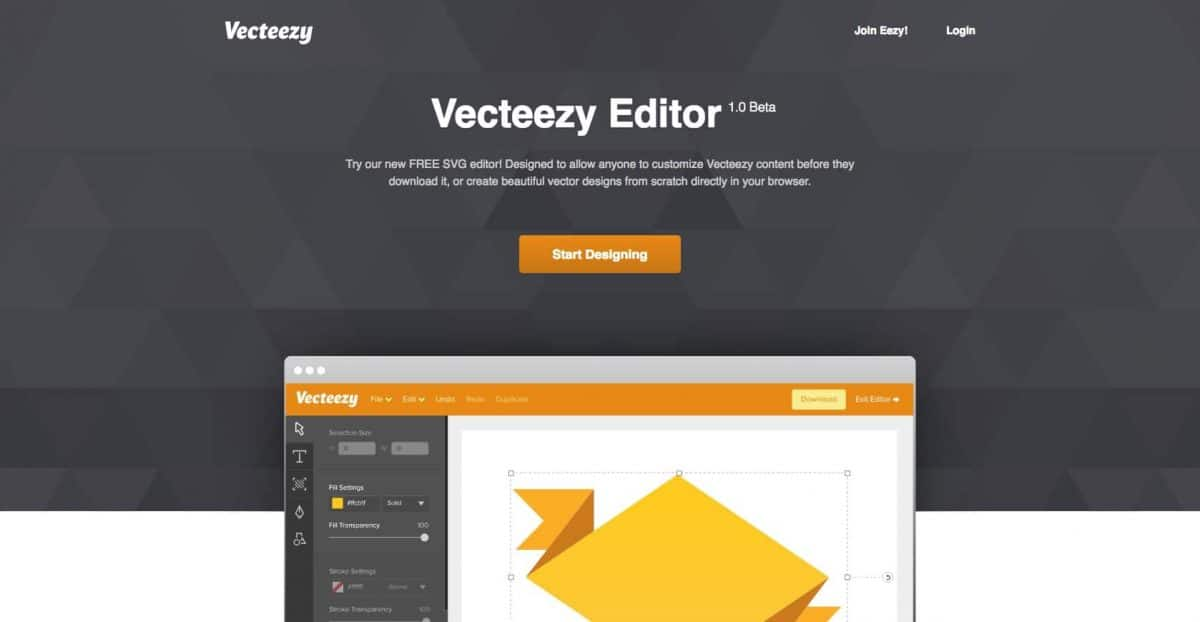 Vecteezy Editor screenshot website
