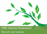 Free Abstract Illustration – Branch and Leaves