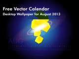 Free Vector Calendar- Desktop Wallpaper for August 2013