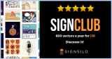 Exclusive SignClub – The Unbeatable Stock Vector Subscription by SignSilo!