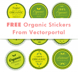 Free Organic Stickers Vectors