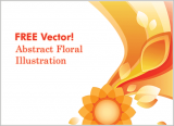 Free Vector – Abstract Floral Illustration