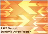 Free Vector – Dynamic Arrows Background